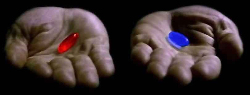 Pilule rouge et bleue