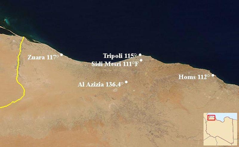 Al'Aziziya, Lybie
