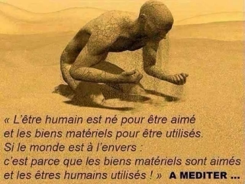 Citation - L_être humain est né pour être aimé