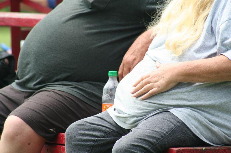 Couple obèse