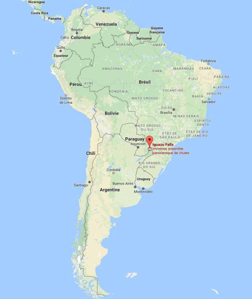 Iguazu Falls - Map