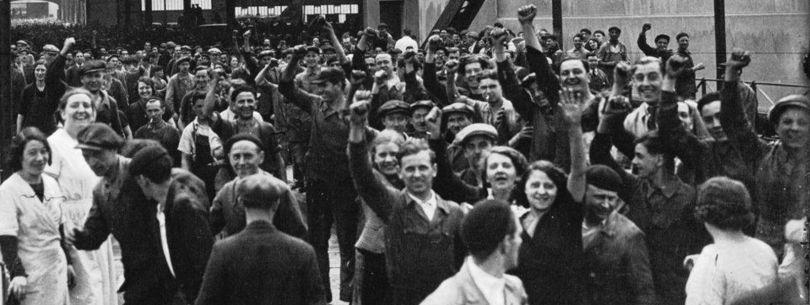 Ouvriers - Grève - Usines Renault (1936)