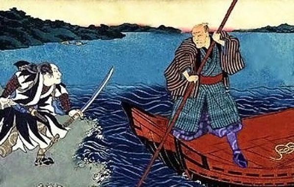 Tsukahara Bokuden - Lac Biwa