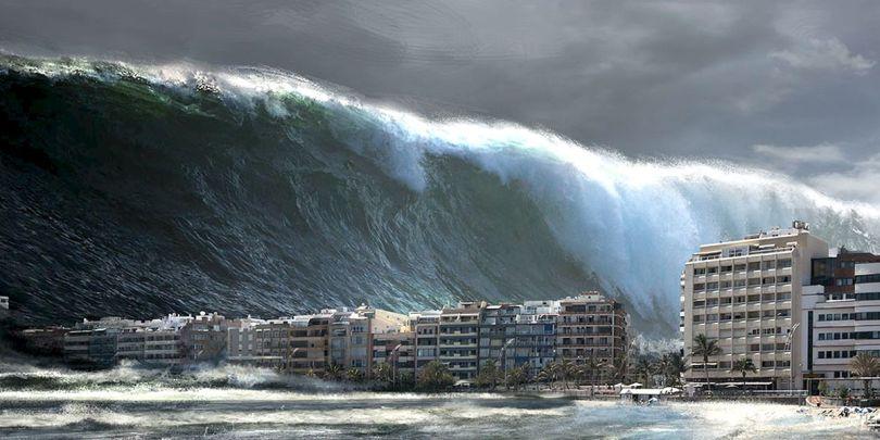 Volcan Cumbre Vieja - Tsunami - Simulation - Wave