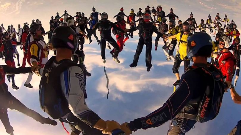 World Record Freefly Skydives Chicago - 2012 - 2
