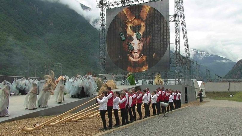 Cérémonie satanique du tunnel du Gothard - 2