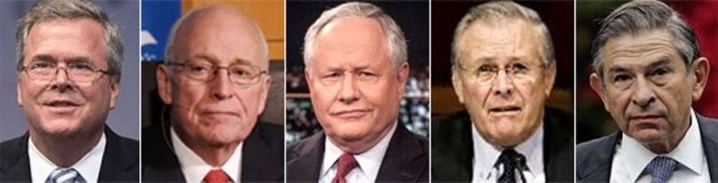 Dick Cheney, Donald Rumsfeld, Paul Wolfowitz