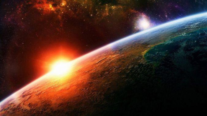 Planet-Earth-Sunrise - Lever de soleil - Terre