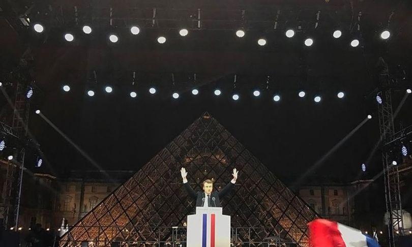 Emmanuel Macron - Pyramide du Louvre