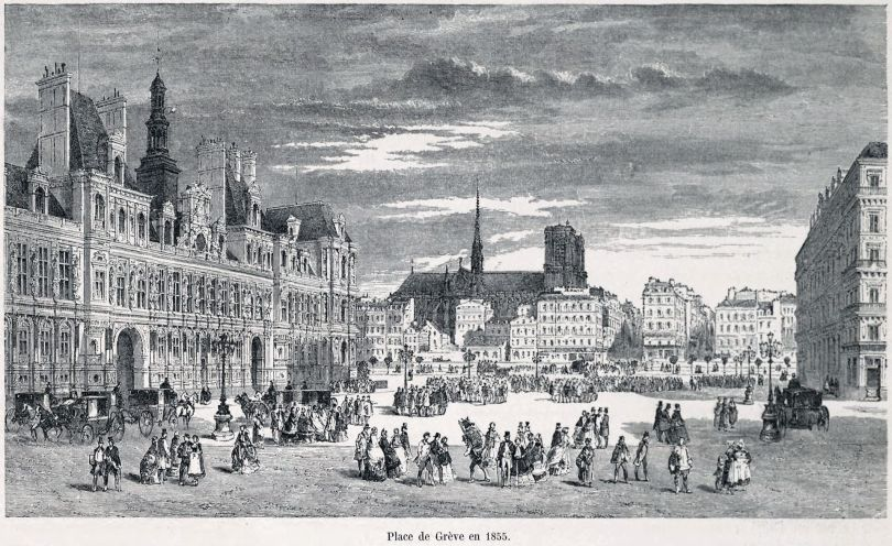 Place de Grève - Paris (1855)