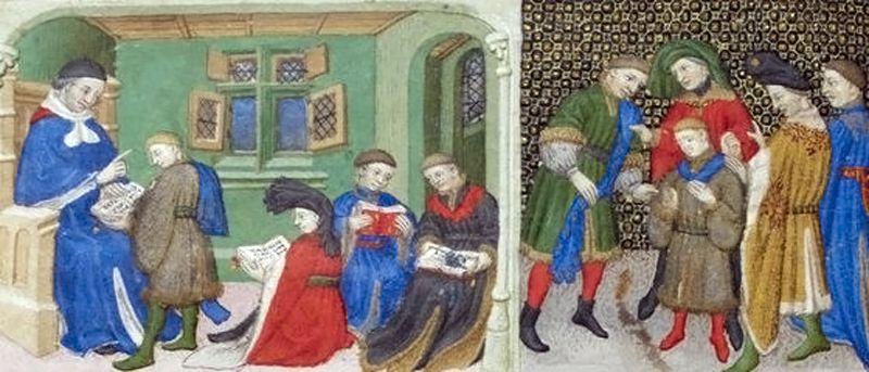 Ecole - Moyen Âge - 1