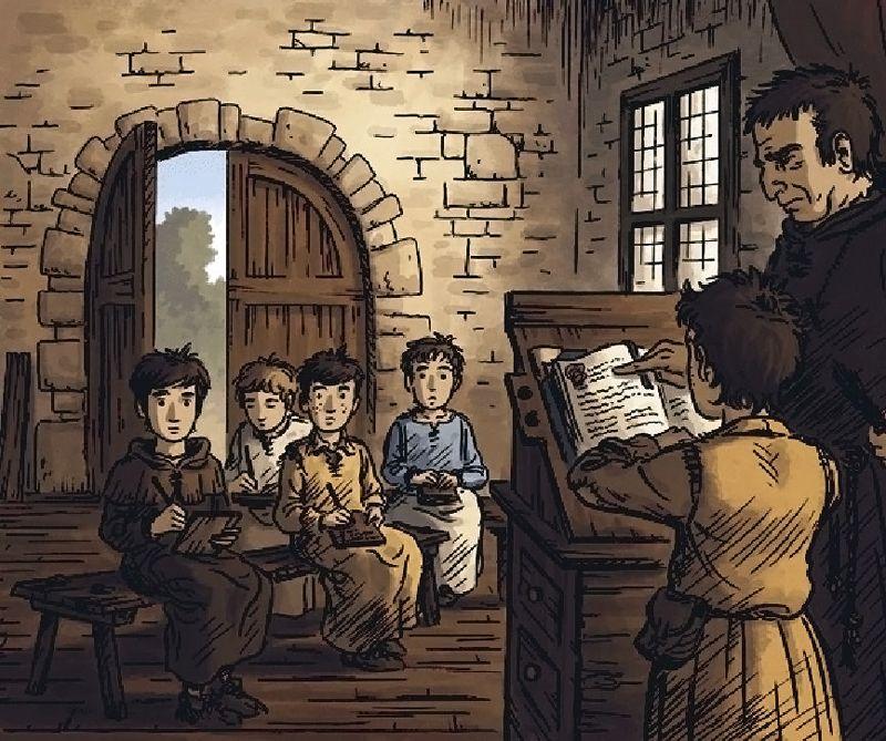 Ecole - Moyen Âge - 2