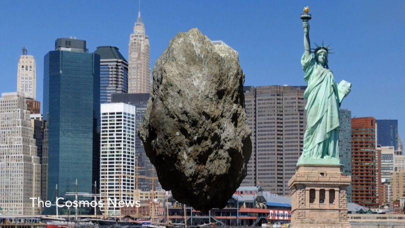 Astéroïde 2012 TC4 - Comparaison Statue de la Liberté