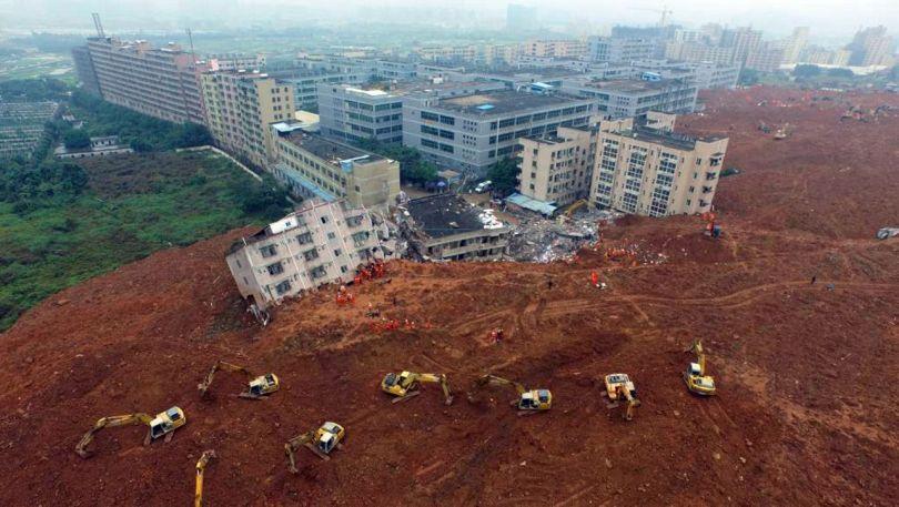 Coulée de boue - Chine - Shenzhen
