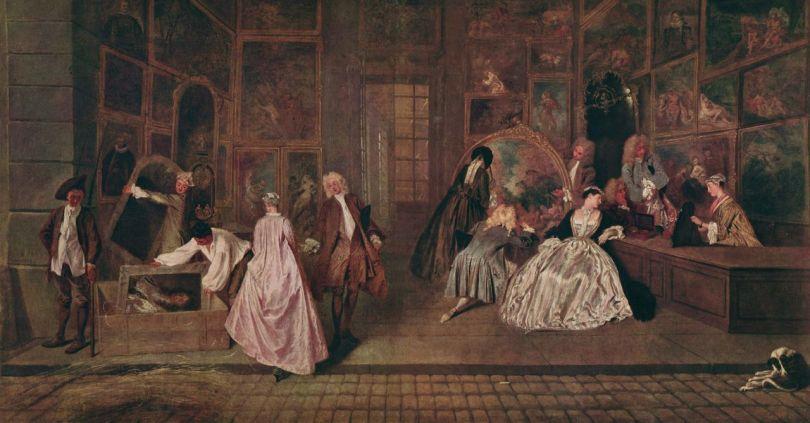 l_Enseigne de Gersaint - Watteau (1720)