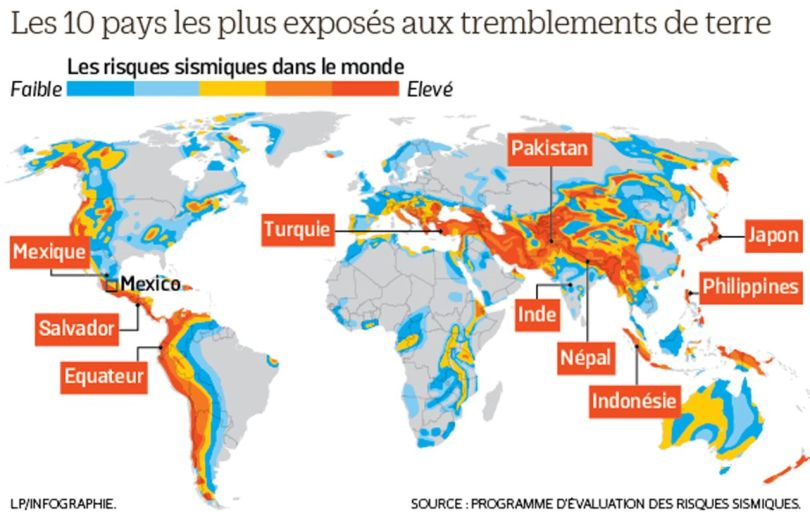 Les 10 pays les plus exposés aux tremblements de terre