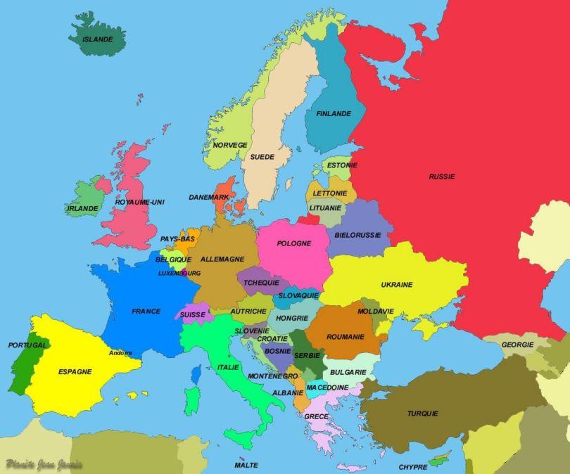 Map - Carte - Europe - 2
