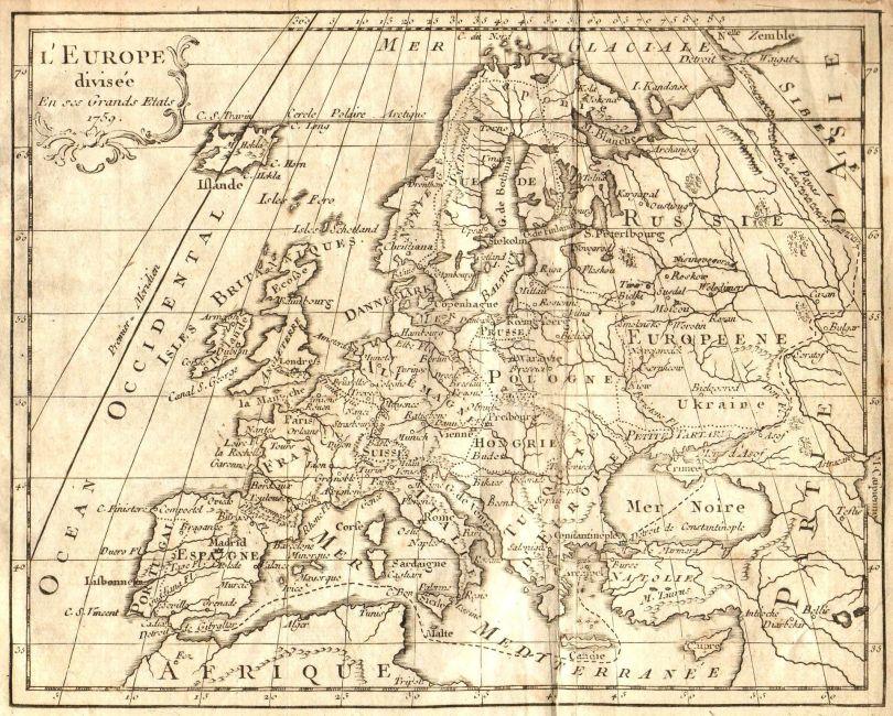 Map - Carte - Europe - 3