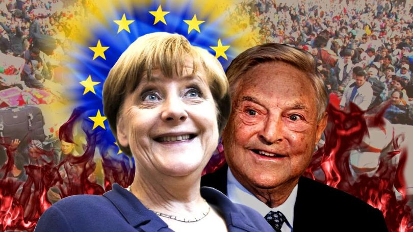 Merkel -Soros - EU