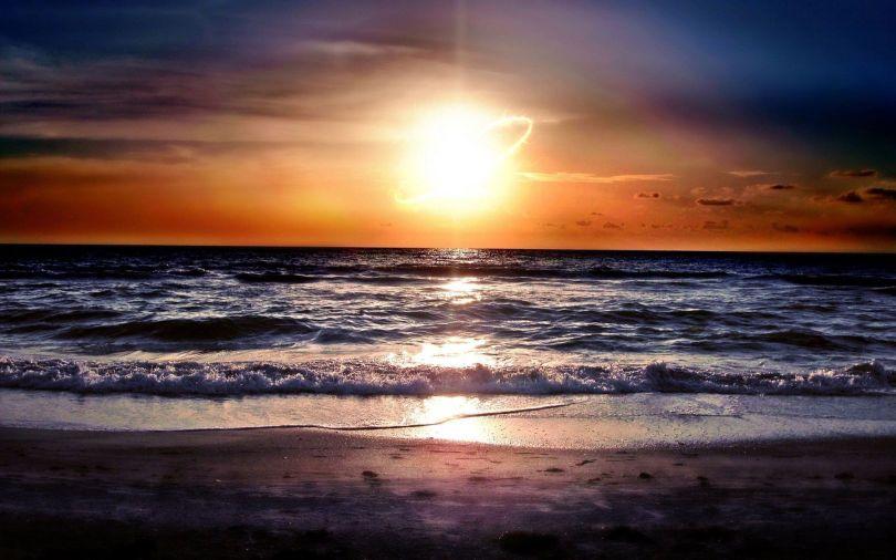 Ocean - Sunset - Wallpaper