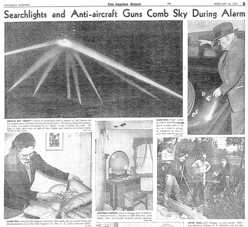 Photos from Los Angeles Times, 26 February 1942
