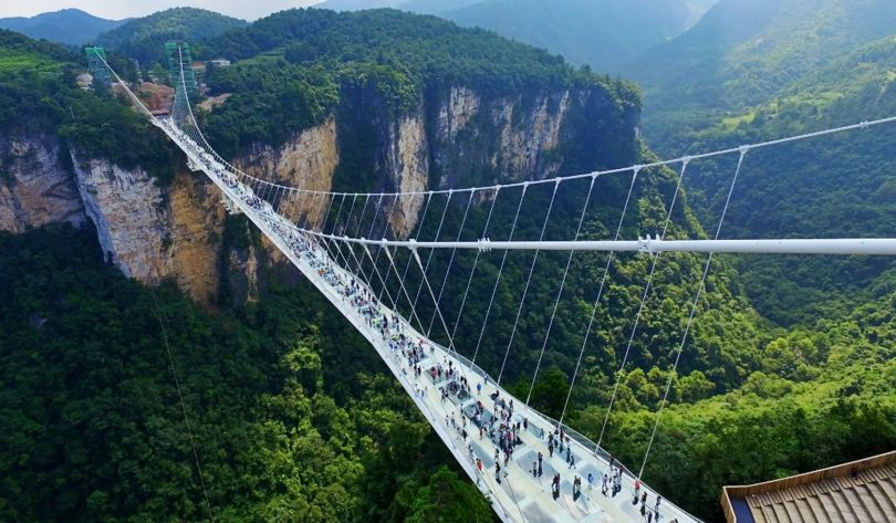 Pont en verre - Glass bridge - China - 1