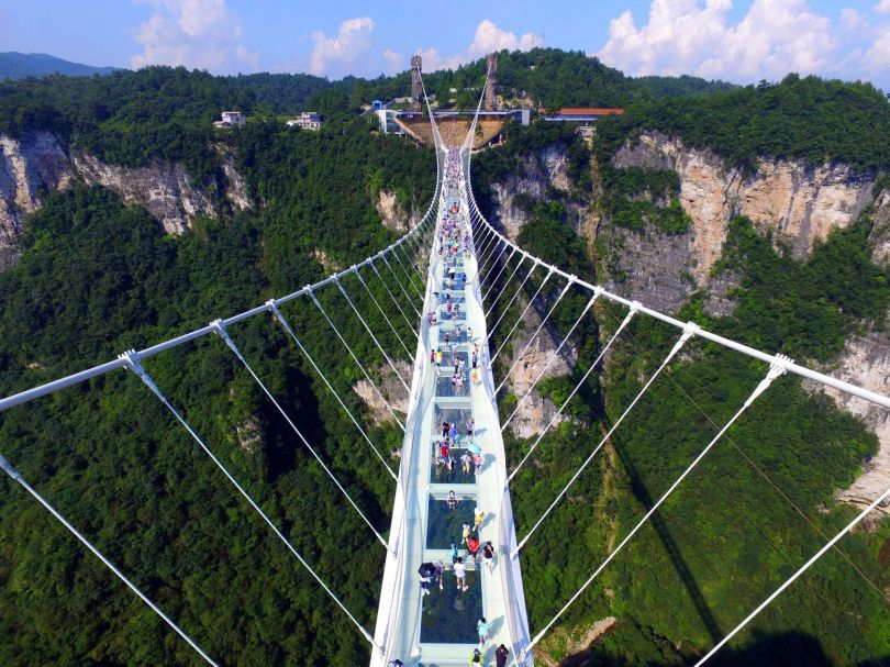 Pont en verre - Glass bridge - China - 5
