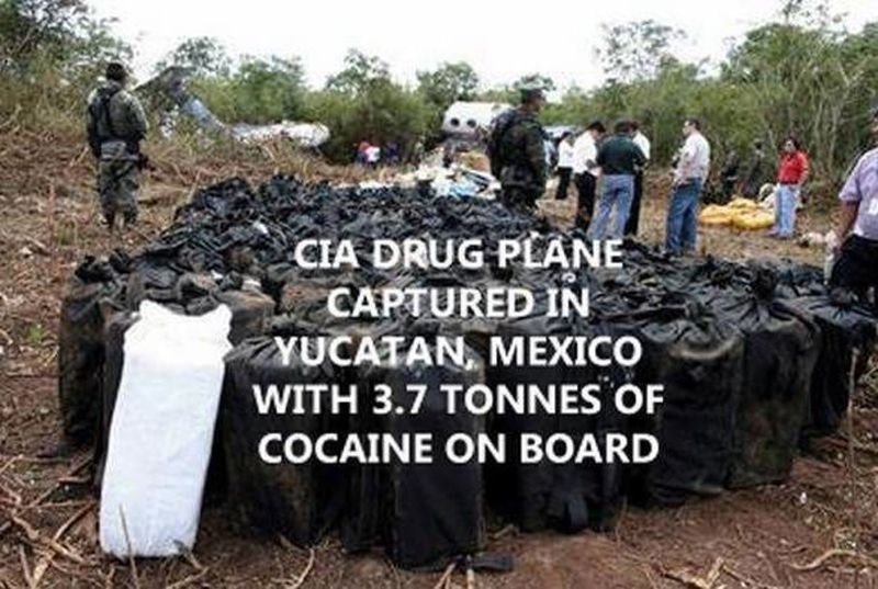 Avion - CIA -Yucatan - Cocaïne