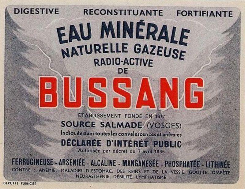 Eau minérale radioactive - 1