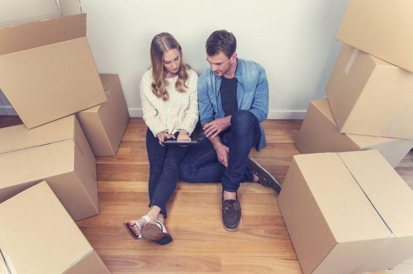 Couple - Aménagement - Cartons