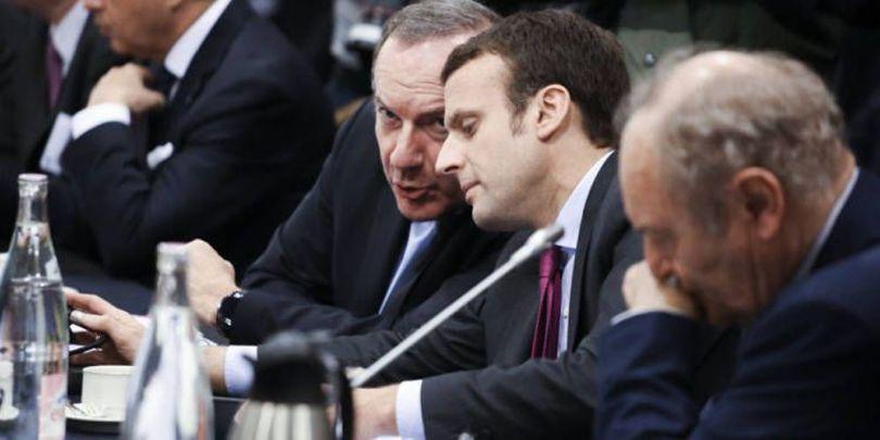 Emmanuel Macron - Président du Medef, Pierre Gattaz - 1