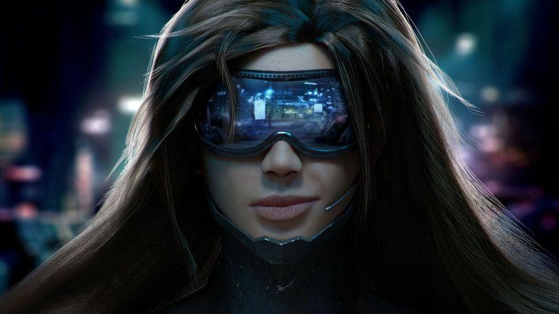 Femme - Lunette futuriste