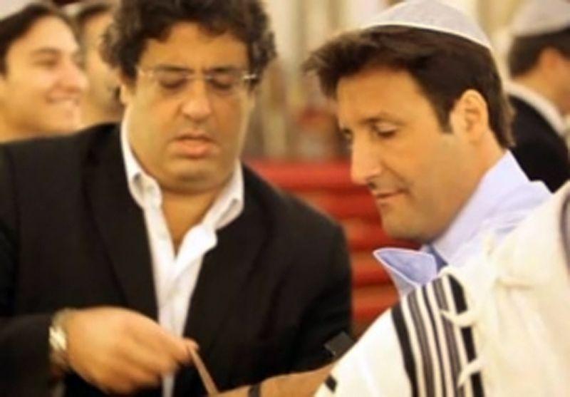 Le député UDI Meyer Habib et Arnaud Mimran