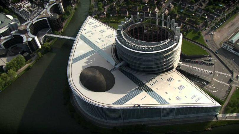 Parlement européen - Vue du ciel