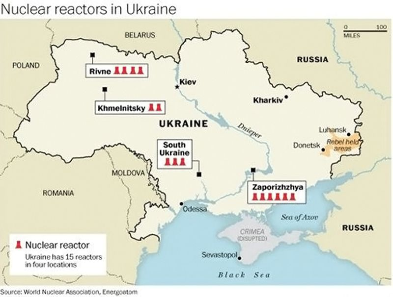 Réacteurs nucléaires - Ukraine