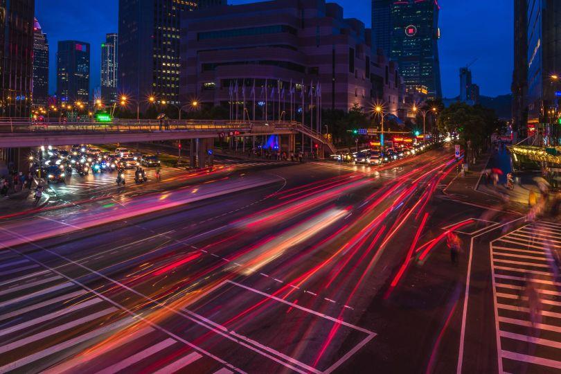 Voiture rapide - Ligne rouge - Route