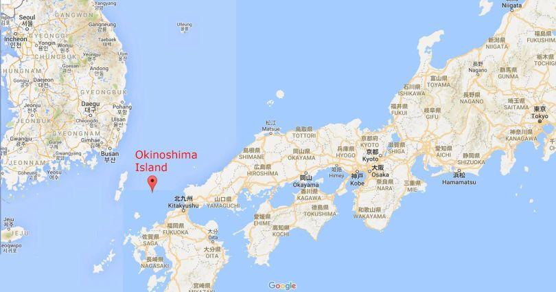 Île japonaise d'Okinoshima - Map - Carte