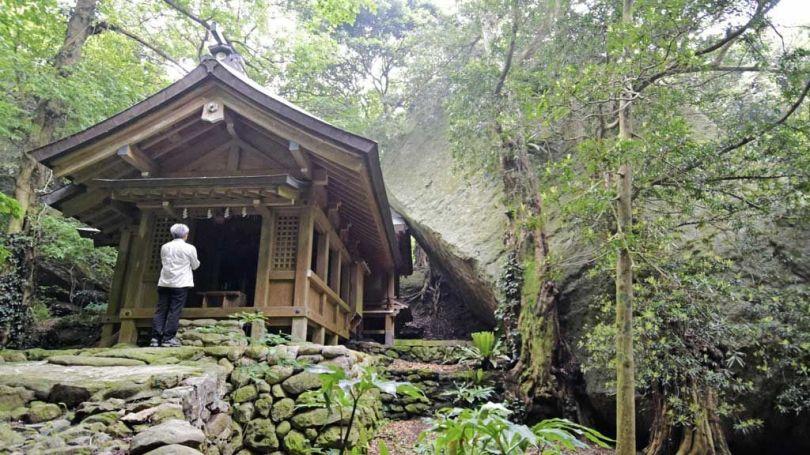 Île japonaise d'Okinoshima - Temple shintoïste