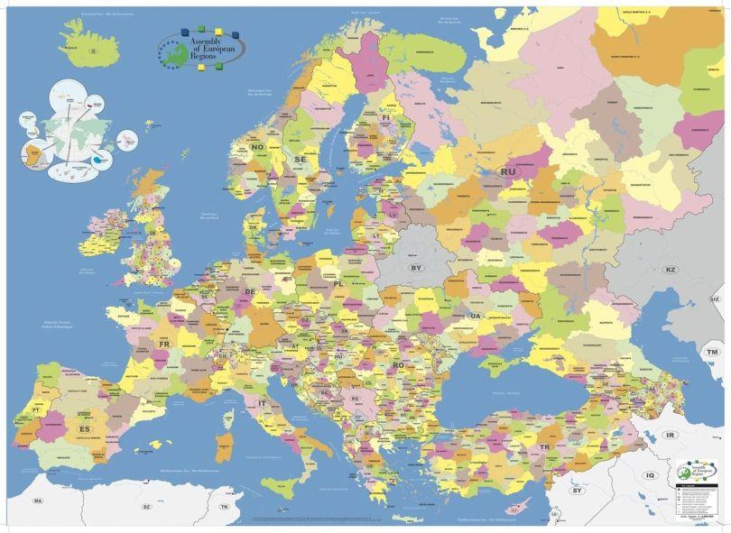Carte - Eurorégions - Europe