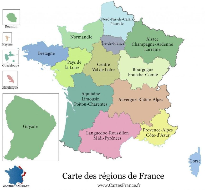 Carte - Régionalisation - France - 2