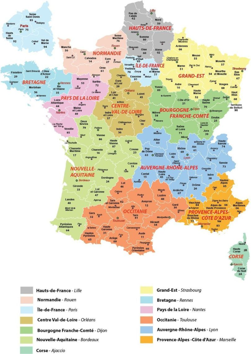 Carte - Régionalisation - France