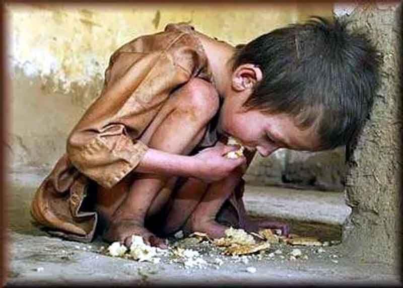 Enfant pauvre - Faim
