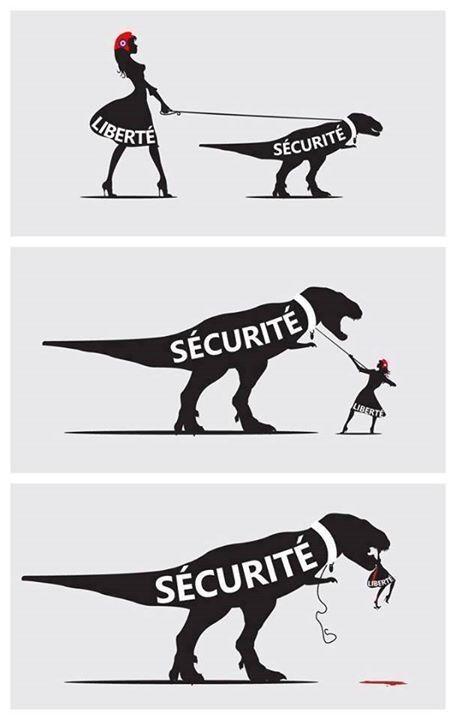 Liberté - Sécurité - Dinosaure