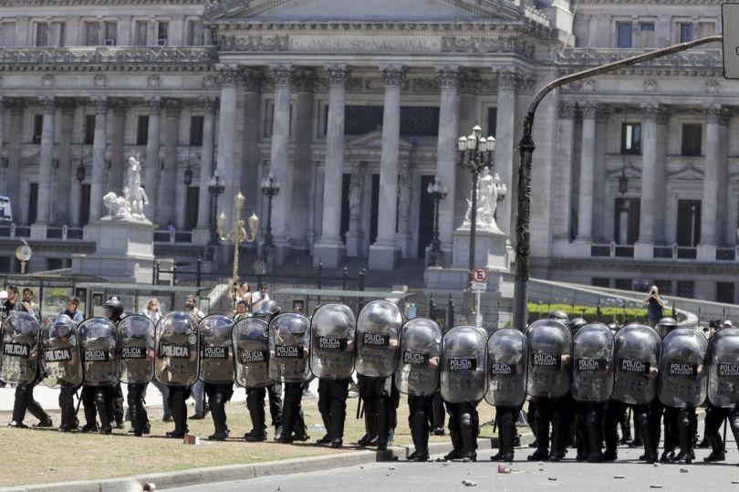 Manifestation - Policiers - Argentine