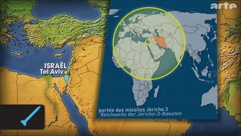 Portée missiles Jericho 3 - Israël