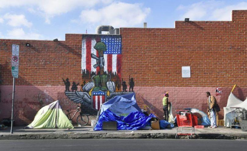 Sans-abris à Los Angeles (10.11.17)