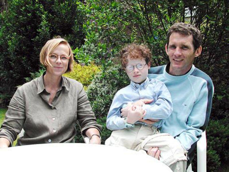 Vincent Alberteau - Son épouse et leur fils Kim