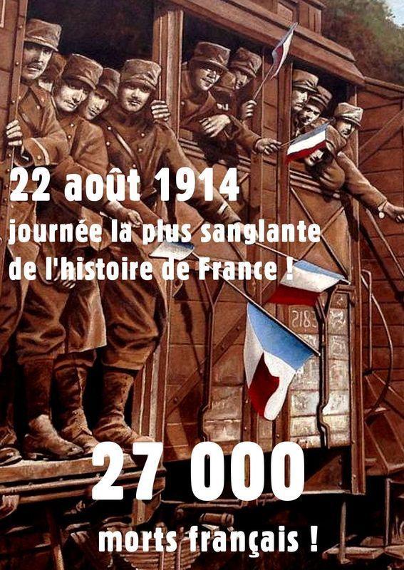 22 aout 1914 - Guerre mondiale