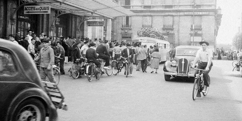 Départs en vacances - Années 50 - France