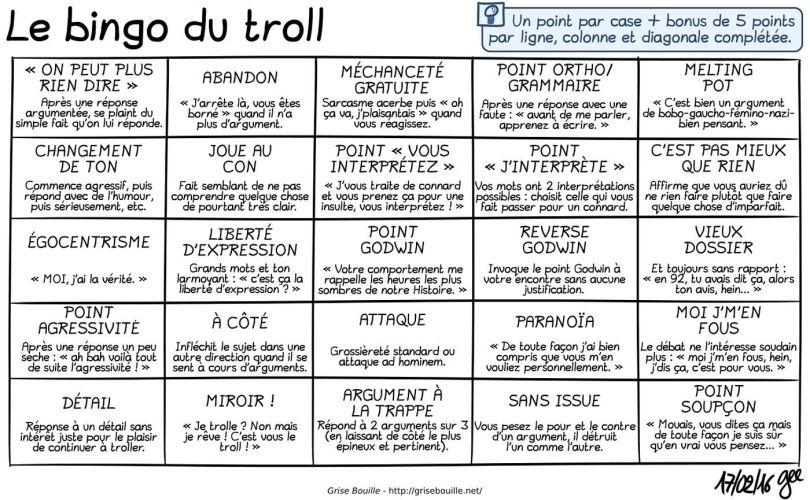 Le bingo du troll